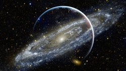 Galaxy in space, beauty of universe, black hole. Elements furnished by NASA.