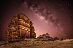Galaxy milky way at Saudi Arabia