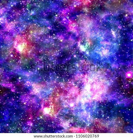 Galaxy Night Print