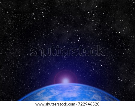 Galaxy stars in the universe outside Earth abstract graphic design wallpaper card. #722946520