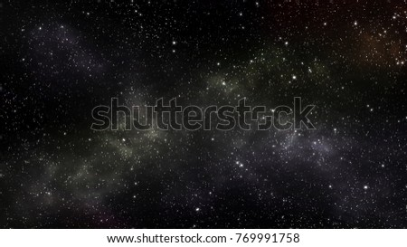 Galaxy stars in the universe outside Earth abstract graphic design wallpaper card. 3d