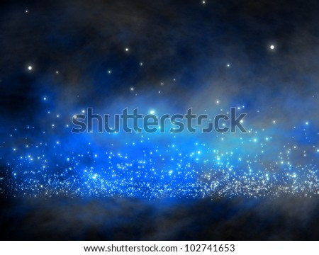 galaxy with lot of stars  / galaxy space