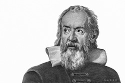 Galileo Galilei from Italy money. Genius inventor, philosopher, astronomer, mathematician. Famous scientist in physics and astronomy, discoverer of telescope. Close Up