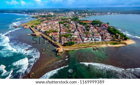 Galle fort aerial photography.Beautiful destination place Asia, Summer vacation travel trip Foto stock ©
