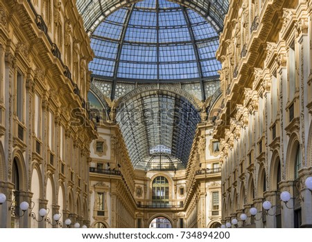 Galleria Vittorio Emanuele II, gallery, Milano, Milan, Lombardy, Lombardy, Italy, Europe #734894200