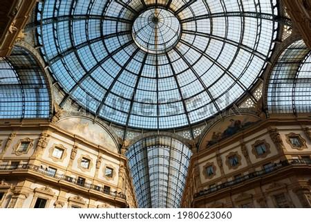 Galleria Vittorio Emanuele II in Italy, Milan Foto d'archivio ©