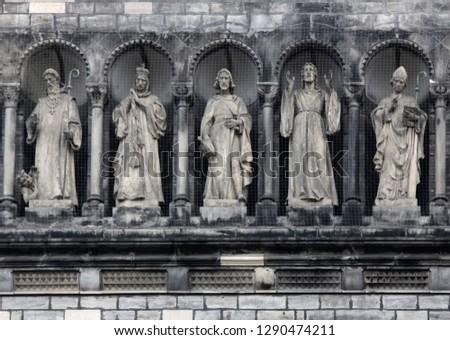 Gallery of saints (sainthood, cloud of saints) with attributes of divine revelation. Prague