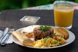Gallo Pinto breakfast, Costa Rica