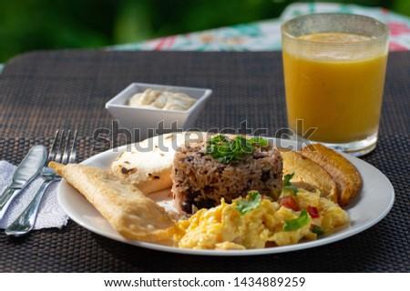 Gallo Pinto breakfast, Costa Rica Foto stock ©