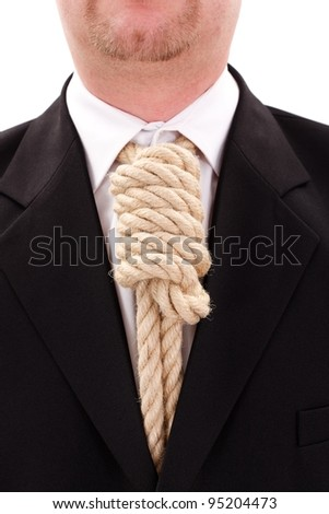 Gallows rope necktie in place of tie
