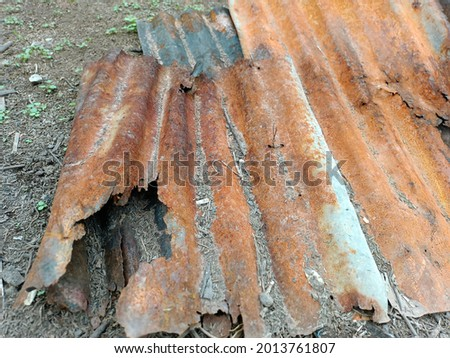 galvanized roofing It is an inexpensive material for thatch roofing. Long lasting can be reused again Photo stock ©