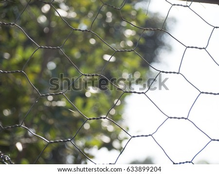Galvanized wire fence #633899204