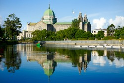 Galway Cathedral Morning View From The River