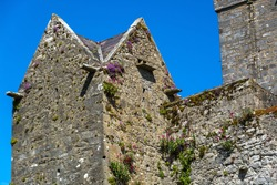 Galway, Ireland: Closeup of Dunguaire Castle in Galway Bay, Ireland.