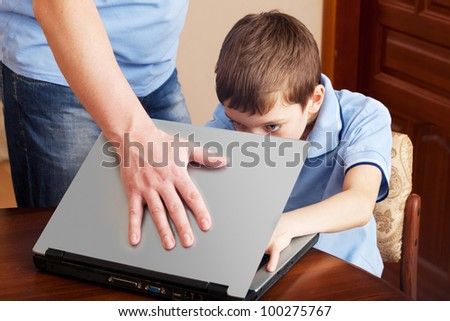Gambling. Child's father prohibited playing on the computer