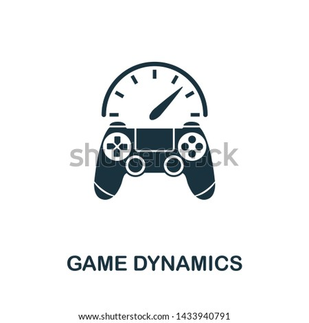 Game Dynamics icon illustration. Creative sign from gamification icons collection. Filled flat Game Dynamics icon for computer and mobile. Symbol, logo graphics.