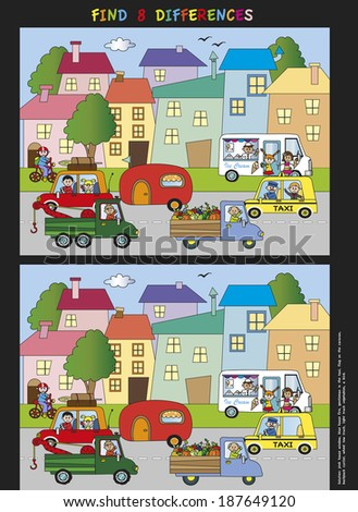 game for children: find eight differences #187649120