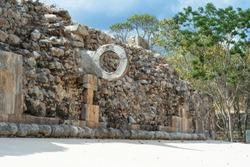 Game of balls Uxmal in Merida Yucatan.