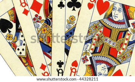 Game of cards with poker of queens - (16:9 ratio)