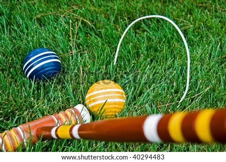 game of croquet on lush grass