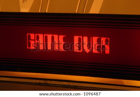 Game Over - stock photo