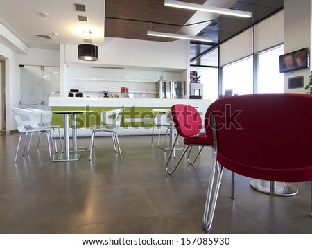 Game room and cafe bar interior