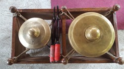 Gamelan, a traditional musical instrument from Java. This type of musical instrument is usually used for staging puppet art or other. Gamelan is one musical instrument without emotional elements