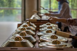 Gamelan, traditional percussive music instruments in Bali and Java, Indonesia