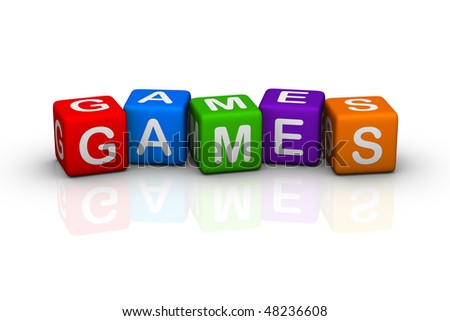 games (colorful cubes words series)