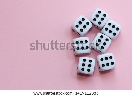 Gaming dices on pink background. #1419112883