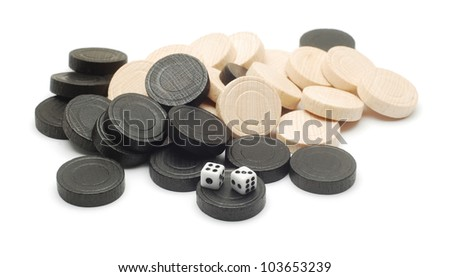 gaming pieces - stock photo