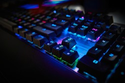 Gaming RGB LED backlit keyboard