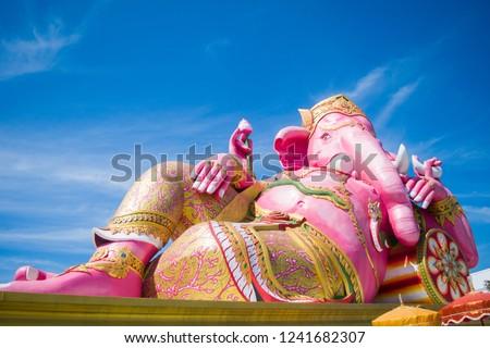 Ganesh at Wat Saman Rattanaram. Stok fotoğraf ©