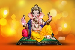 Ganesh chaturthi, lord ganesh with beautiful background