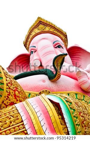 Ganesh pink on a white background isolates