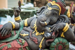 Ganesh statue in india temple, India