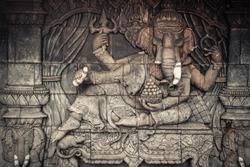 Ganesha god statue in public temple in Thailand, Ganesha God is elephant God in Hindu religion.