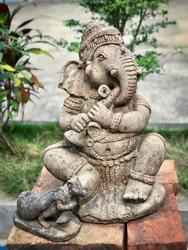 Ganesha god stone sculpture