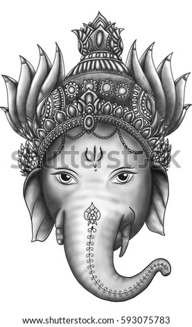 Stock Photo Ganesha is god of success.Ganesha is one of the best-known and most worshipped deities in the Hindu pantheon