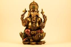 Ganesha Statue lotus flower symbol
