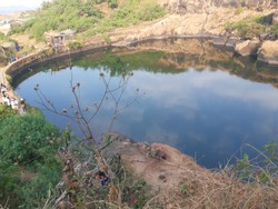 Gangasagar Lake in Raigad Fort, India