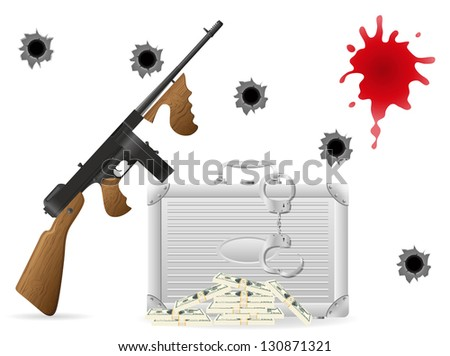 gangster concept illustration isolated on white background