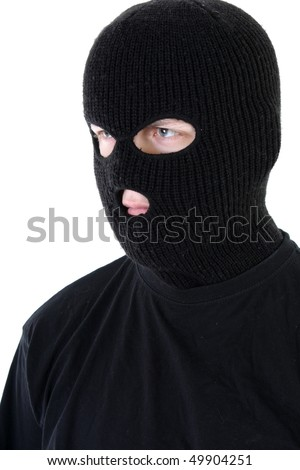 Gangster in black mask
