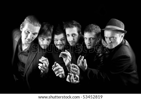 gangsters family - stock photo