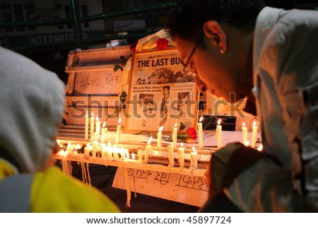 GANGTOK, INDIA - NOVEMBER 30: People light up candles in memory of victims of terrorist attack in Mumbai on November 30, 2008 in Gangtok, India.