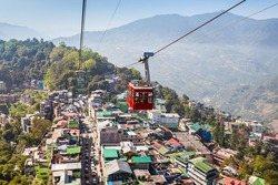 Gangtok Ropeway in Gangtok city in the Indian state of Sikkim, India