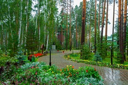 Ganina Yama Monastery in Yekaterinburg region, Russia, built in memory of the Romanovs, the last royal family of Russia. This is a place where the bodies of the Romanov family were buried in 1918.
