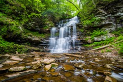 Ganoga Falls, at Ricketts Glen State Park, Pennsylvania.