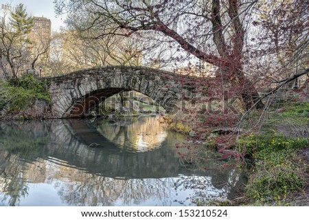 Gapstow bridge in early spring Central Park, New York City