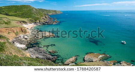Gara Rock Beach and the South Devon Coast, UK Zdjęcia stock ©